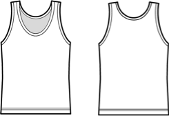 Tank Top Template | Anime Outline Tank Tops Www Picturesso Com
